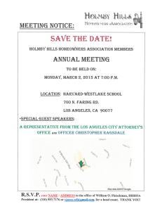 HHHOA - Annual Meeting (SAVE THE DATE)